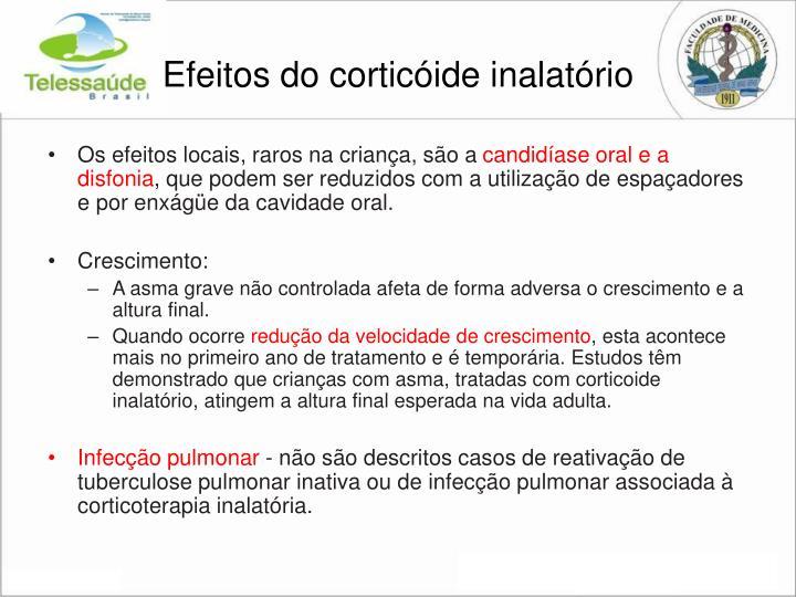 Efeitos do corticóide inalatório