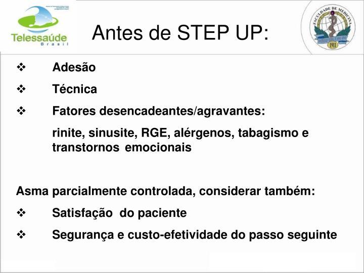 Antes de STEP UP: