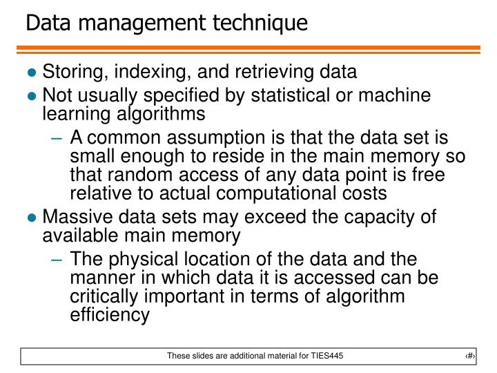 Data management technique