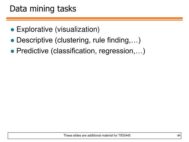 Data mining tasks