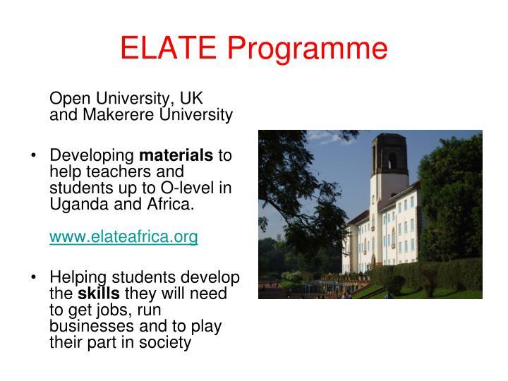 ELATE Programme