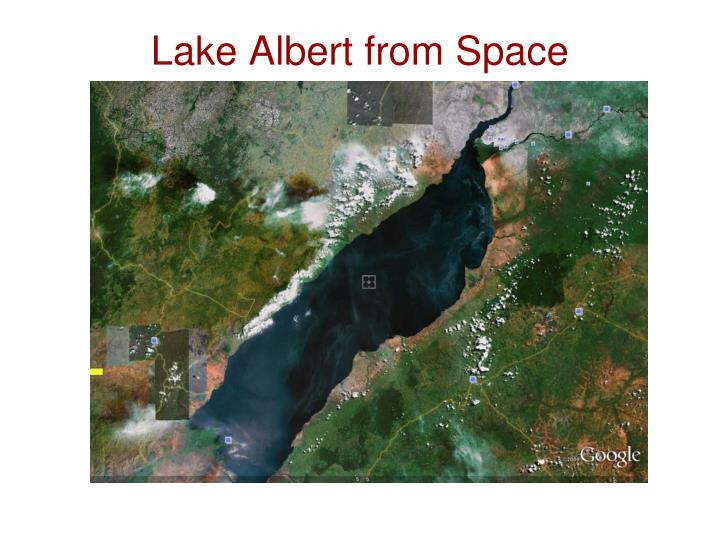 Lake Albert from Space