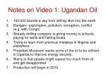 notes on video 1 ugandan oil