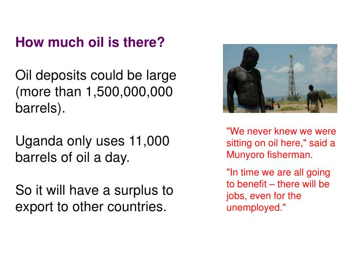 How much oil is there?