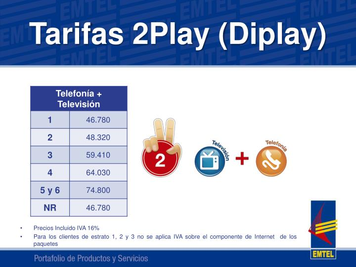 Tarifas 2Play (