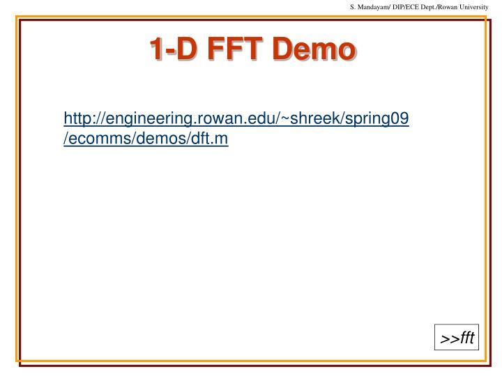 1-D FFT Demo