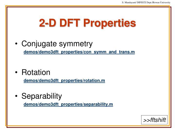 2-D DFT Properties