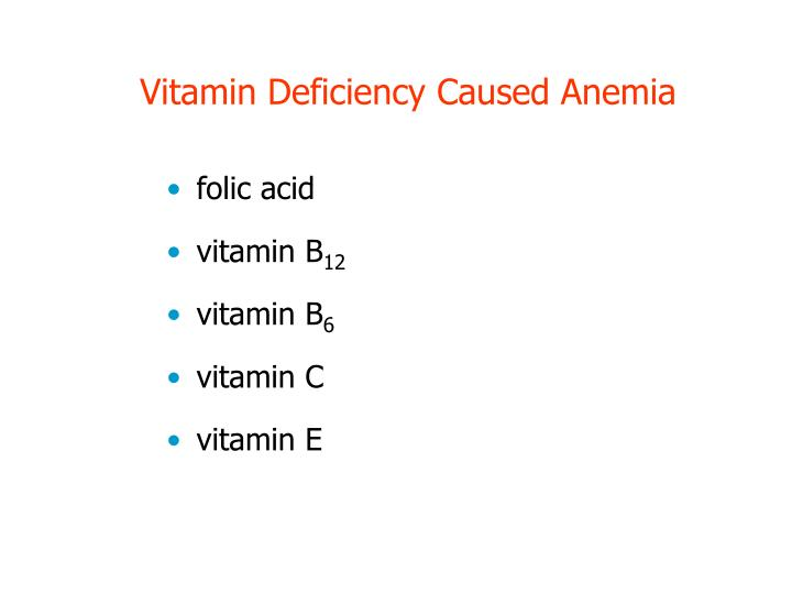 Vitamin Deficiency Caused Anemia