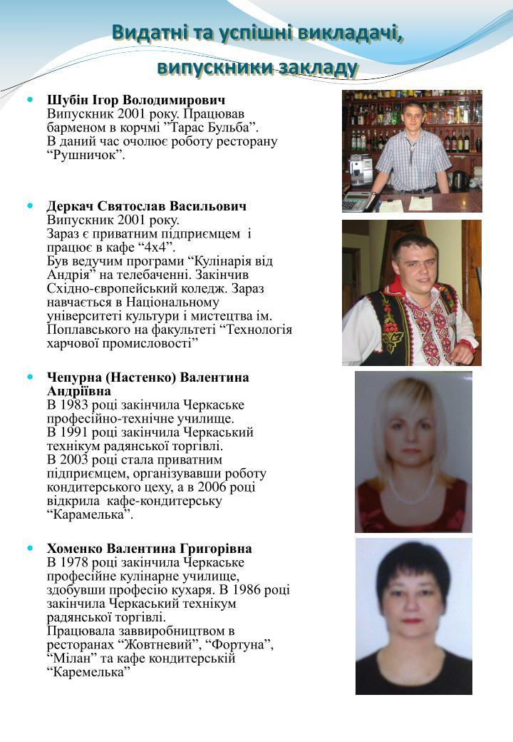 Шубін Ігор Володимирович