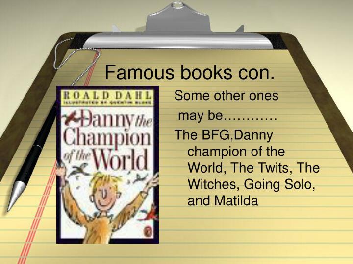 Famous books con.