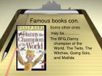 famous books con