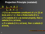 projection principle restated