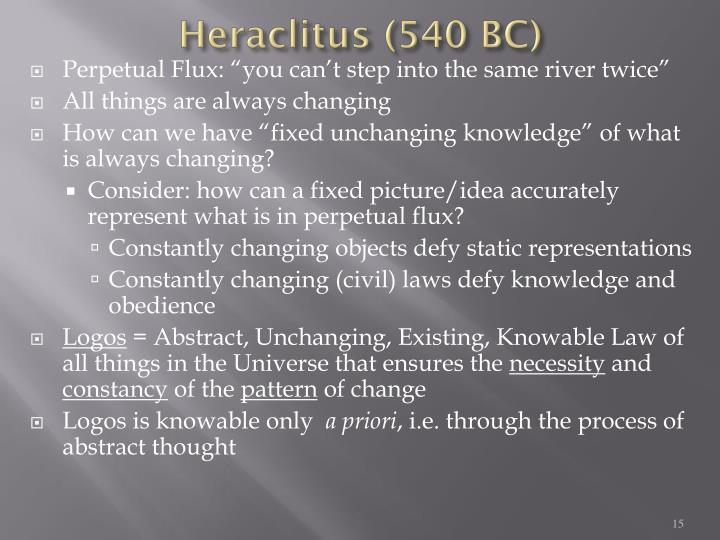 Heraclitus (540 BC)