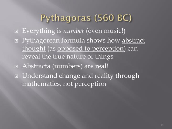 Pythagoras (560 BC)