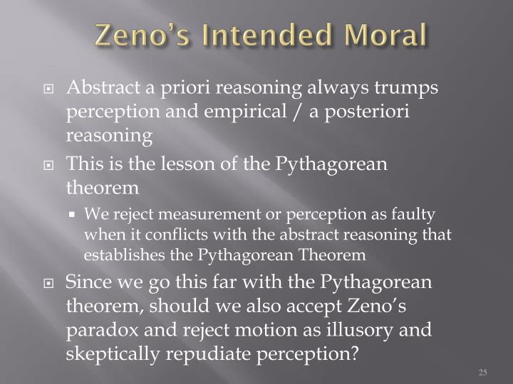 Zeno's Intended Moral