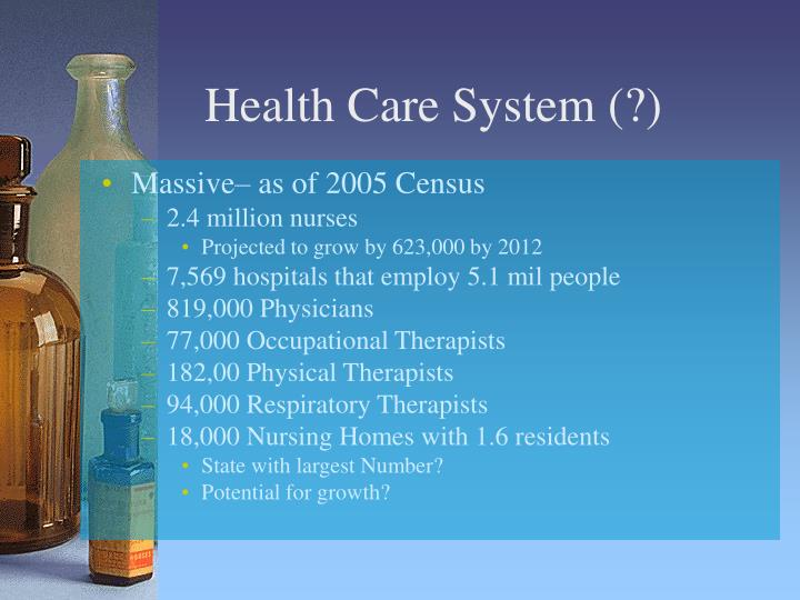 a history of health care systems in the united states Major payers in the united states of america's health-care system  who are  healthier towards those who have a history of costly illness.