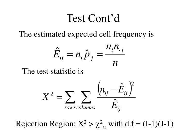 Test Cont'd