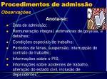 procedimentos de admiss o1