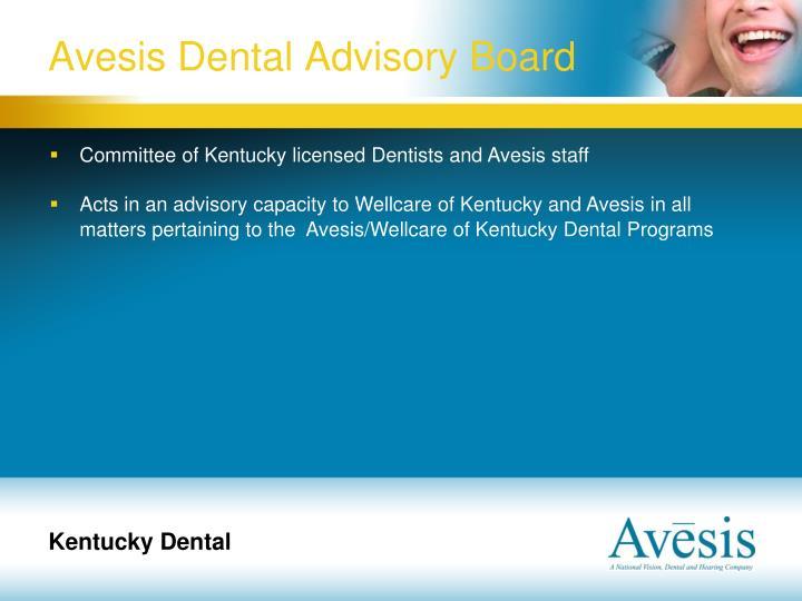 Avesis Dental Advisory Board