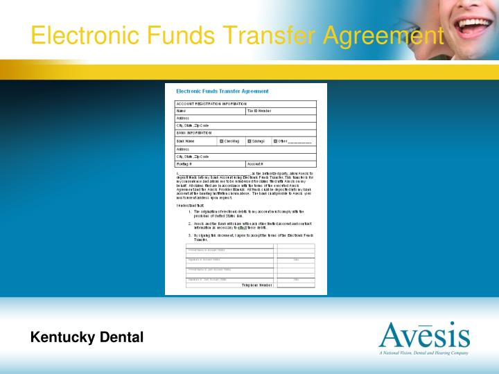 Electronic Funds Transfer Agreement