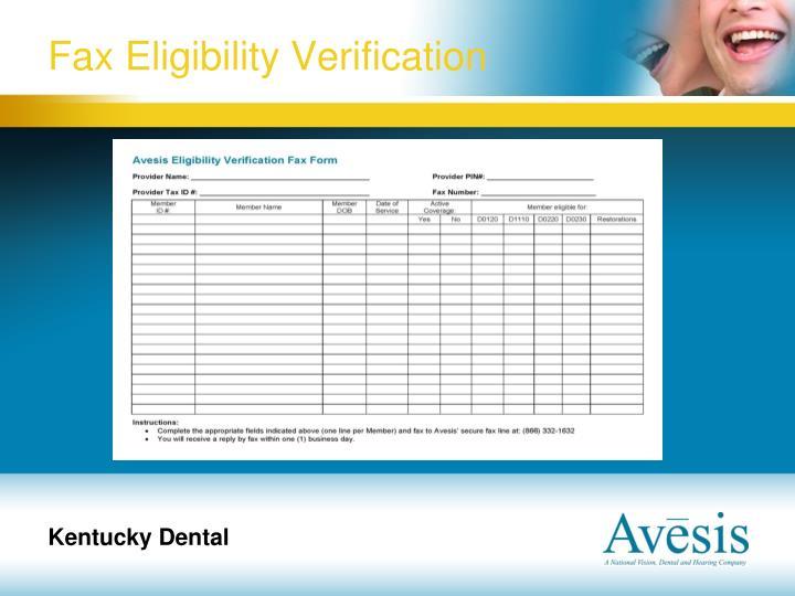 Fax Eligibility Verification