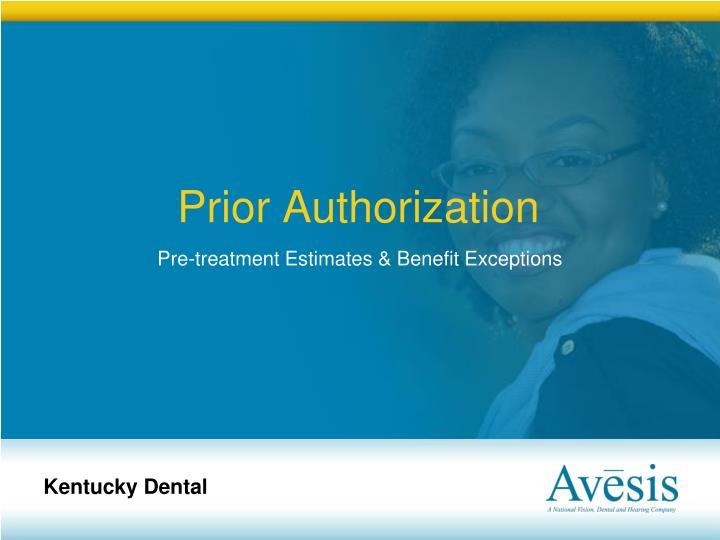 Prior Authorization