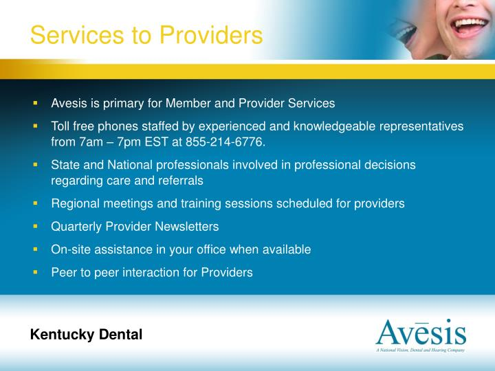 Services to Providers