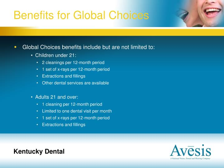 Benefits for Global Choices