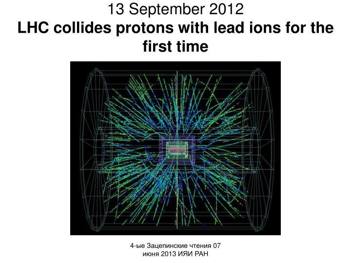 13 September 2012