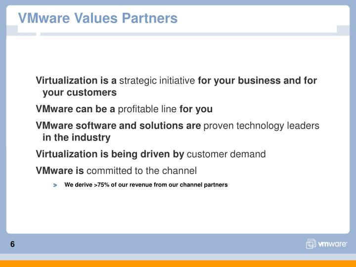 VMware Values Partners