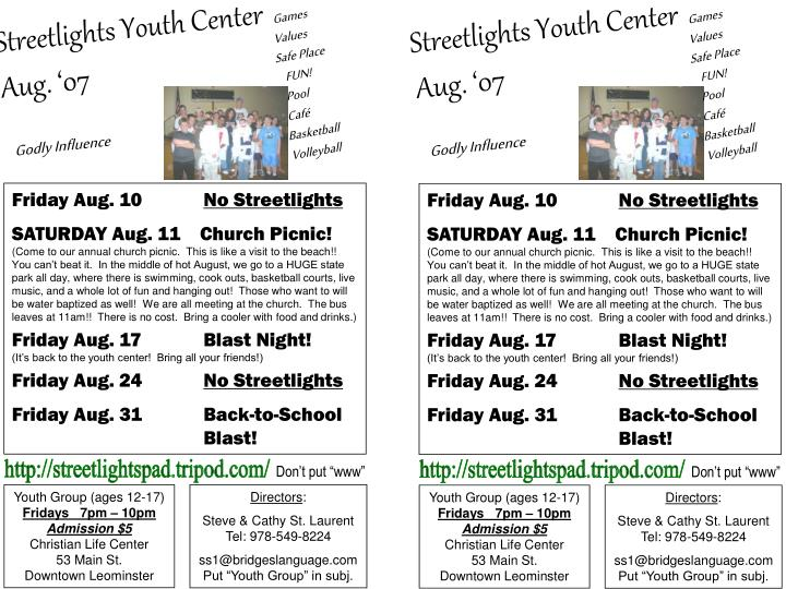 Streetlights Youth Center