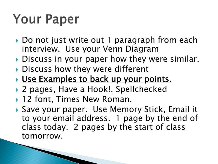 Your Paper