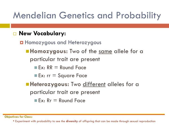 Mendelian Genetics and Probability