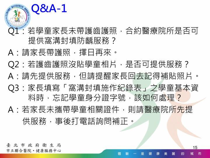 Q&A-1