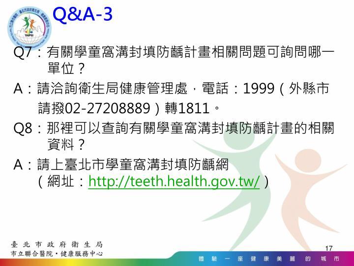 Q&A-3