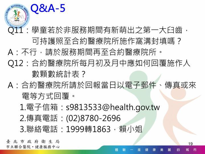 Q&A-5