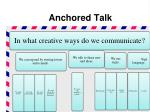 anchored talk4