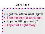 daily fix it2