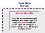 dear juno thursday1