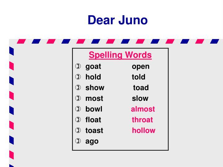 Dear Juno