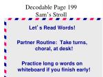 decodable page 199 sam s stroll