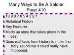 many ways to be a soldier page 410