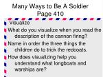 many ways to be a soldier page 4101