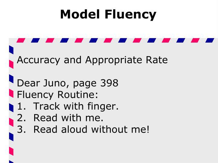 Model Fluency