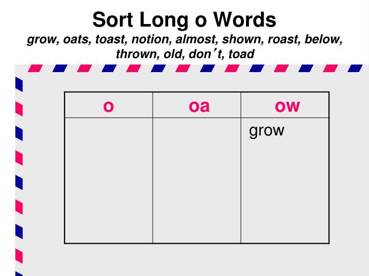 Sort Long o Words