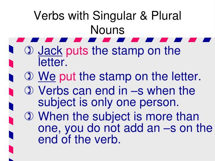 Verbs with Singular & Plural Nouns
