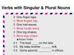 verbs with singular plural nouns7