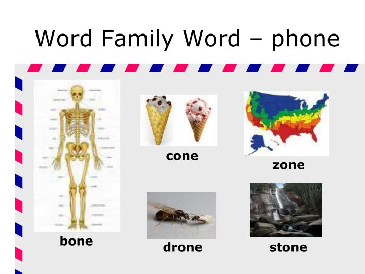 Word Family Word – phone