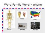 word family word phone
