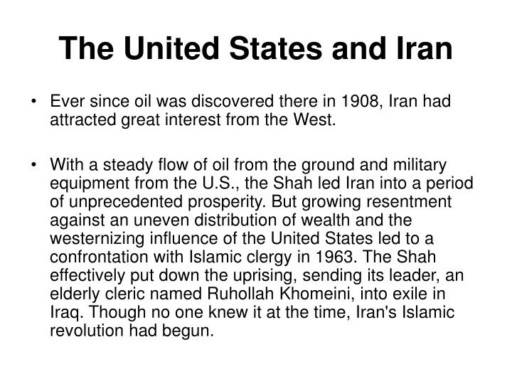 The United States and Iran